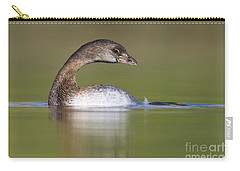 Carry-all Pouch featuring the photograph Loss-neck Grebe by Bryan Keil
