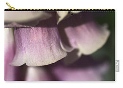 Carry-all Pouch featuring the photograph Lost In A Foxglove by Joy Watson