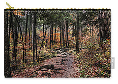 Carry-all Pouch featuring the photograph Lost In Thought On The Blue Ridge Parkway Trail by Debbie Green