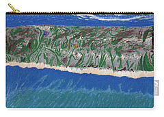 Carry-all Pouch featuring the painting Lost Island by Kim Pate