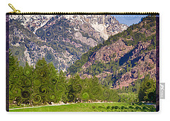 Lost River Airport Runway Abstract Landscape Painting Carry-all Pouch