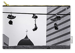 Carry-all Pouch featuring the photograph Lost Soles - Urban Metaphors by Steven Milner