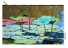 Lotus Above The Lily Pads Carry-all Pouch