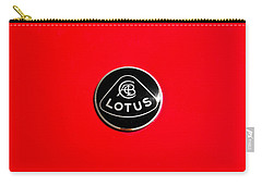 Vintage Car Carry-all Pouch featuring the photograph Lotus Badge by Aaron Berg