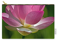 Carry-all Pouch featuring the photograph Lotus Bloom by Jerry Gammon
