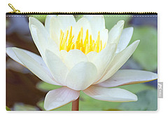 Lotus Flower 02 Carry-all Pouch by Antony McAulay