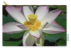 Carry-all Pouch featuring the photograph Lotus Flower by Chrisann Ellis