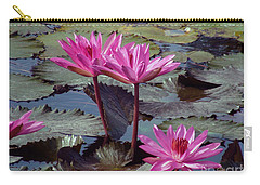Carry-all Pouch featuring the photograph Lotus Flower by Sergey Lukashin