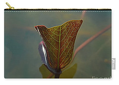 Carry-all Pouch featuring the photograph Lotus Leaf by Michelle Meenawong