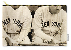 Lou Gehrig And Babe Ruth Carry-all Pouch by Bill Cannon