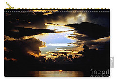 Louisiana Sunset Blue In The Gulf  Of Mexico Carry-all Pouch by Michael Hoard