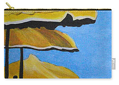 Lounging Under The Umbrellas On A Bright Sunny Day Carry-all Pouch