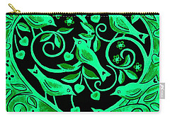 Love Birds, 2012 Woodcut Carry-all Pouch