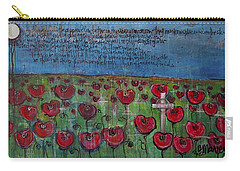 Love For Flanders Fields Poppies Carry-all Pouch