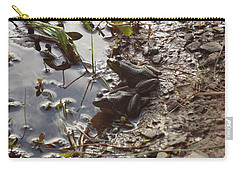 Carry-all Pouch featuring the photograph Love Frogs by Michael Porchik