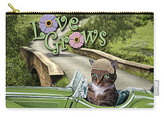 Carry-all Pouch featuring the digital art Love Grows by Kathy Tarochione