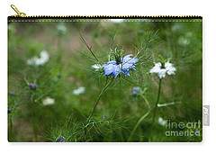 Carry-all Pouch featuring the photograph Love In A Mist by Liz  Alderdice