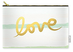 Love In Mint And Gold Carry-all Pouch