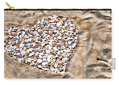 Love In The Sand Carry-all Pouch