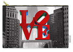 Love Is Always Black And White Square Carry-all Pouch
