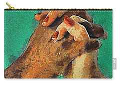 Carry-all Pouch featuring the painting Love Knows No Differences by Dragica  Micki Fortuna