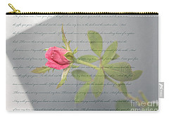 Love Letter Lyrics And Rose Carry-all Pouch