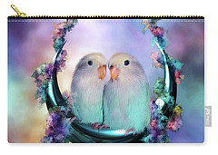 Love On A Moon Swing Carry-all Pouch by Carol Cavalaris