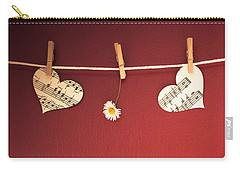 Love On The Line Carry-all Pouch by Jan Bickerton