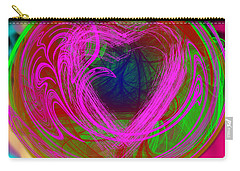 Carry-all Pouch featuring the digital art Love Over Chaos by Clayton Bruster