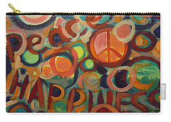 Love Peace Happiness Carry-all Pouch