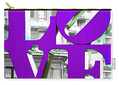 Love Philadelphia Purple Carry-all Pouch by Terry DeLuco