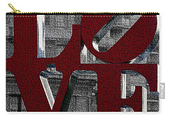 Love Philadelphia Red Mosaic Carry-all Pouch by Terry DeLuco