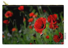 Carry-all Pouch featuring the photograph Love Red Poppies by Nava Thompson