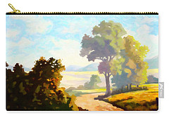 Carry-all Pouch featuring the painting Lovely Day by Anthony Mwangi