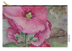 Carry-all Pouch featuring the painting Lovely Hollies by Marilyn Zalatan