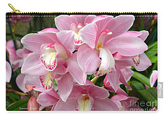 Carry-all Pouch featuring the photograph Cymbidium Pink Orchids by Jeannie Rhode
