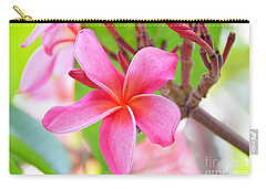 Carry-all Pouch featuring the photograph Lovely Plumeria by David Lawson