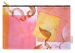 Carry-all Pouch featuring the painting Lovers Dance 2 In Sienna And Pink  by Asha Carolyn Young