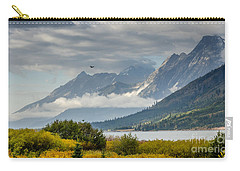Low Clouds On The Teton Mountains Carry-all Pouch