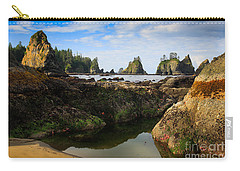 Low Tide At The Arches Carry-all Pouch