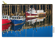 Boats And Reflections At Low Tide On Digby Bay Nova Scotia Carry-all Pouch