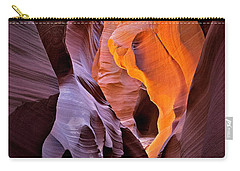 Carry-all Pouch featuring the photograph Lower Antelope Glow by Jerry Fornarotto