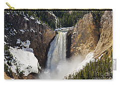 Lower Falls Of The Yellowstone Carry-all Pouch by Sue Smith