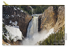 Lower Falls Of The Yellowstone Carry-all Pouch