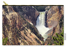 Lower Falls Of Yellowstone Carry-all Pouch