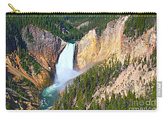 Lower Falls Yellowstone 2 Carry-all Pouch by Teresa Zieba