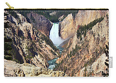 Lower Falls Yellowstone Carry-all Pouch by Teresa Zieba