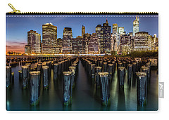 Carry-all Pouch featuring the photograph Lower Manhattan by Mihai Andritoiu
