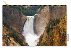 Carry-all Pouch featuring the photograph Lower Yellowstone Falls by Eric Tressler