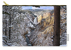 Lower Yellowstone Falls In October Carry-all Pouch